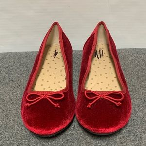 Red Velvet Holiday Christmas Party Ballet Flat
